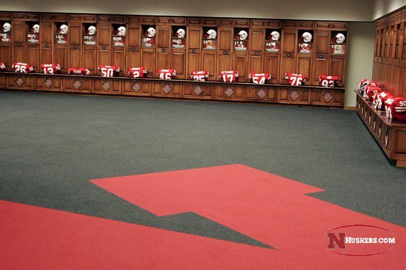Nebraska Football Locker Room University Of Nebraska Nebraska Football Husker Football Lockers