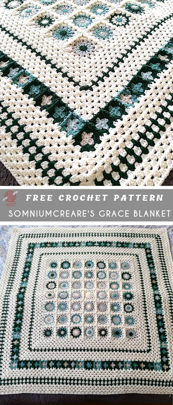 Grace Blanket Crochet Pattern Free #afghanpatterns