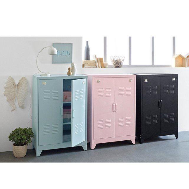 armoire vestiaire am ricain m tal hiba la redoute. Black Bedroom Furniture Sets. Home Design Ideas