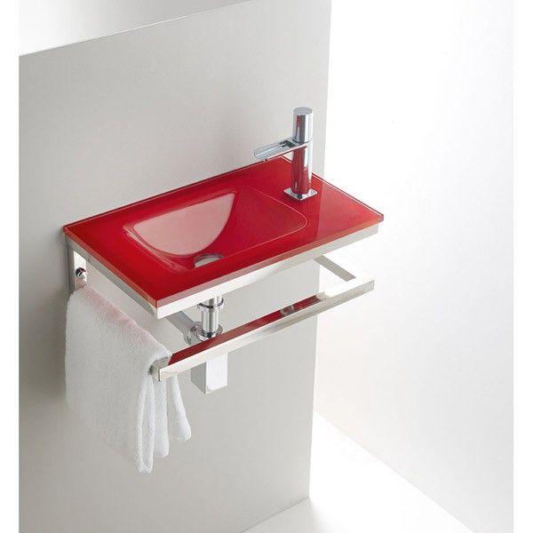 Lavabo Rojo Cristal.Top Cristal Rojo Lofttres Lavabo Tresgriferia Spain