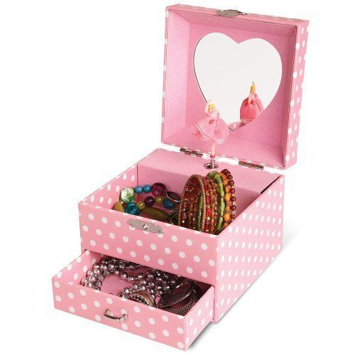 Aurora Mini Pink Musical Jewelry Box with Spinning Ballerina for