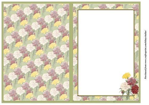 Carnations Insert - CraftsuPrint