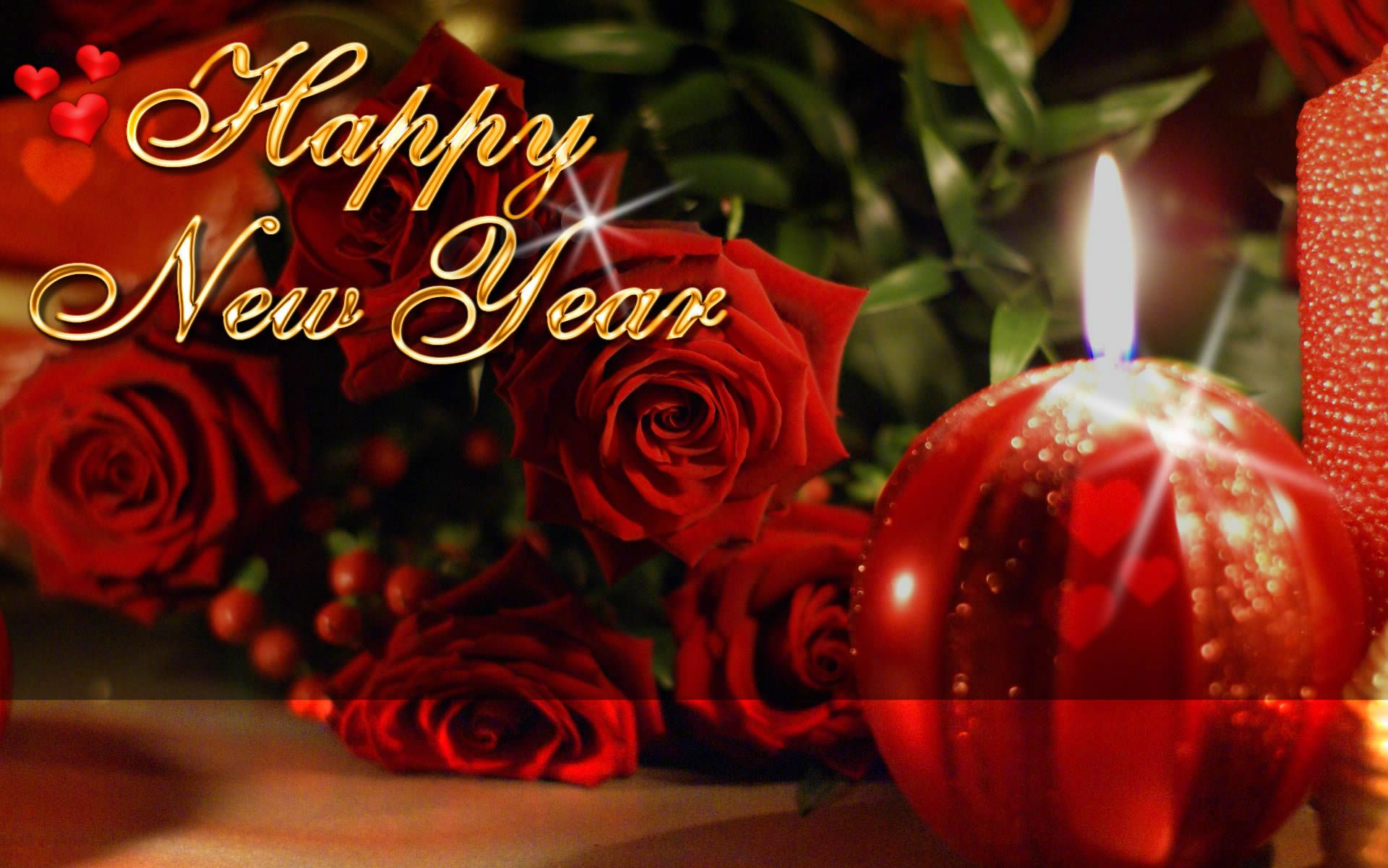 happy new year roses