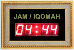 Tipe TIMER IQOMAH (43 x 29 cm) Frame Fiber Bisa Sebagai Jam Digital Berat Paket 6 Kg Rp.690.000,-  http://jamdigitalmasjid.id