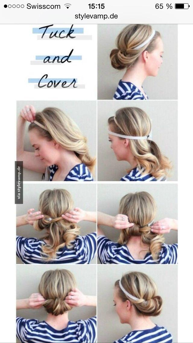 Haarband frisur schritt fur schritt
