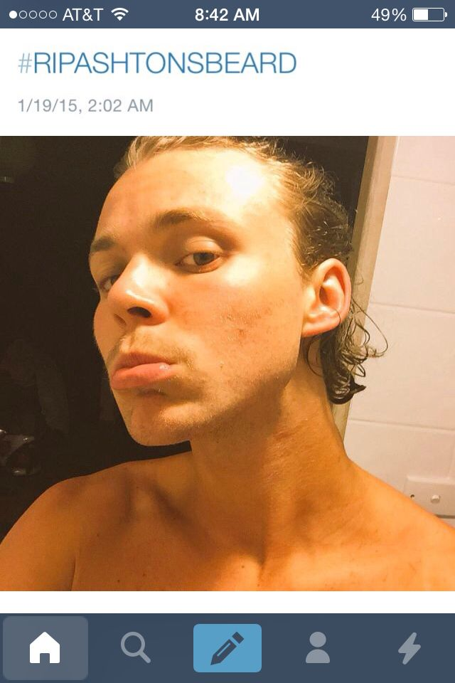 So Ashton shaved