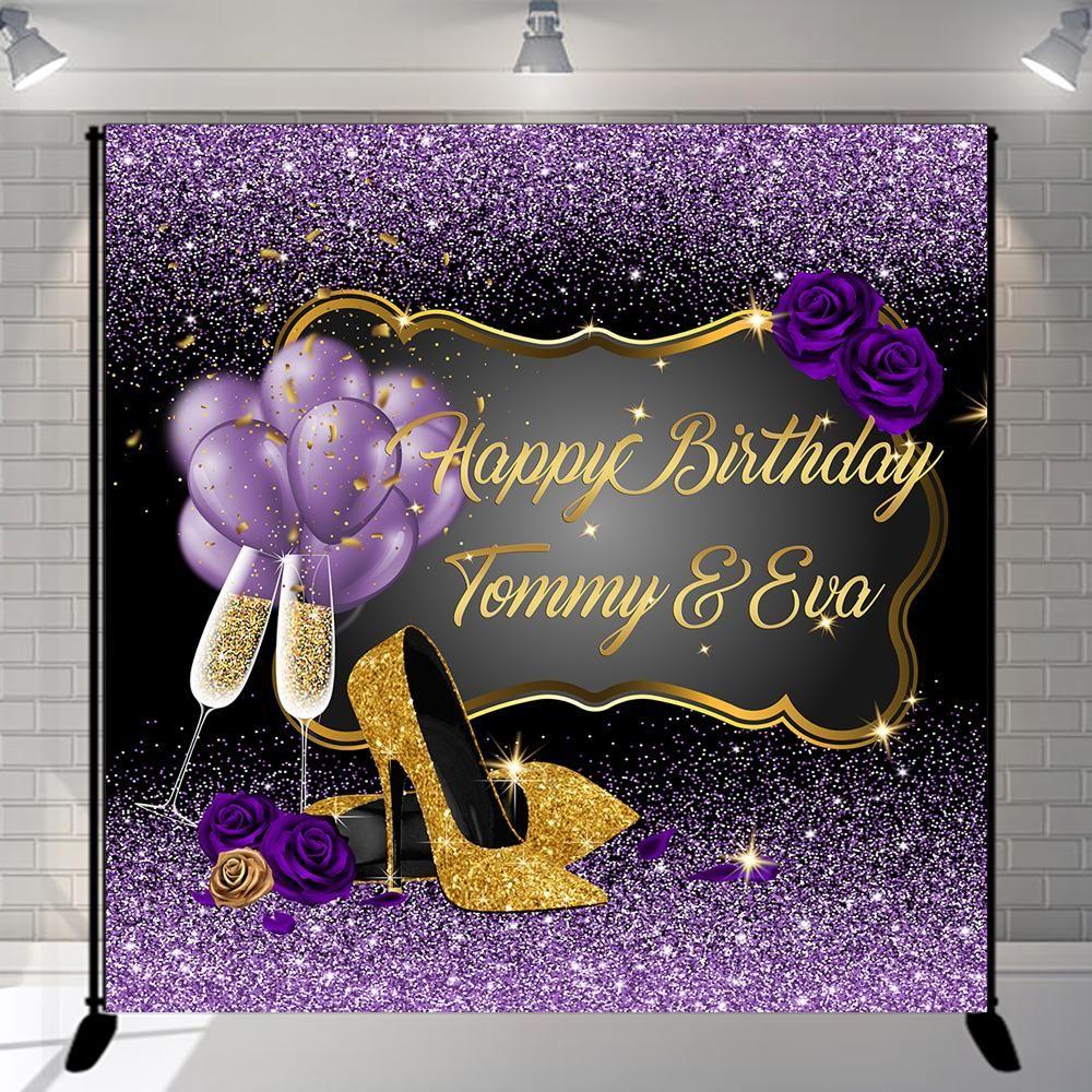 "16th 18th 21st/""  Diamond Happy Birthday Fabric Party Banner CUSTOM Personalised"