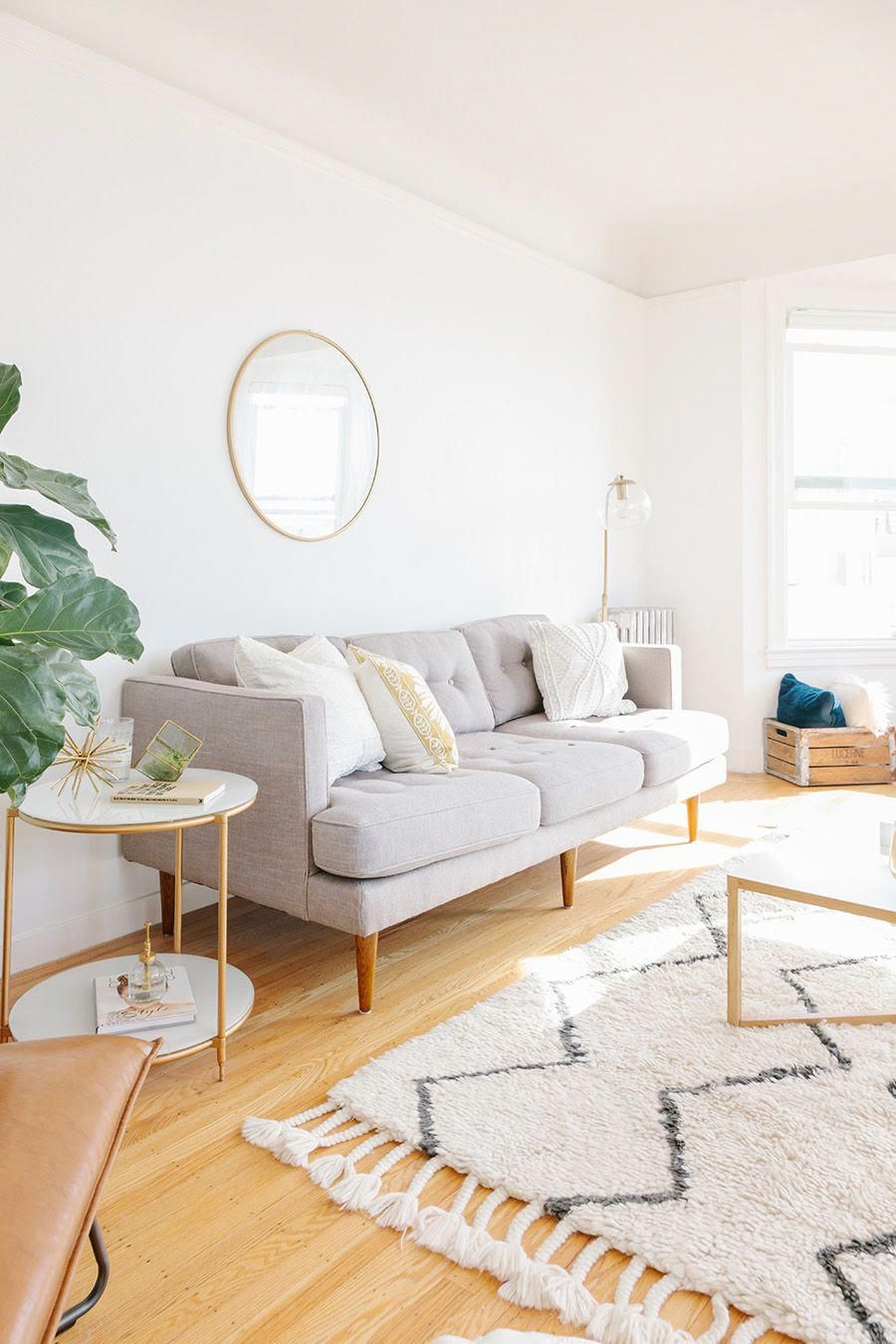 Neutral Living Room Inspo Beautiful Rug Gray Couch Light