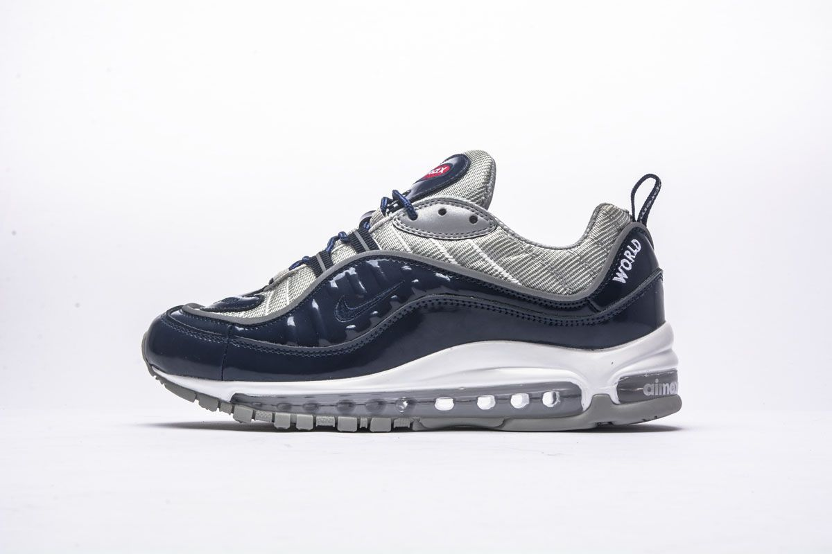 buy popular 5bd24 71add Supreme x Nike Air Max 98 Blue Shoes1
