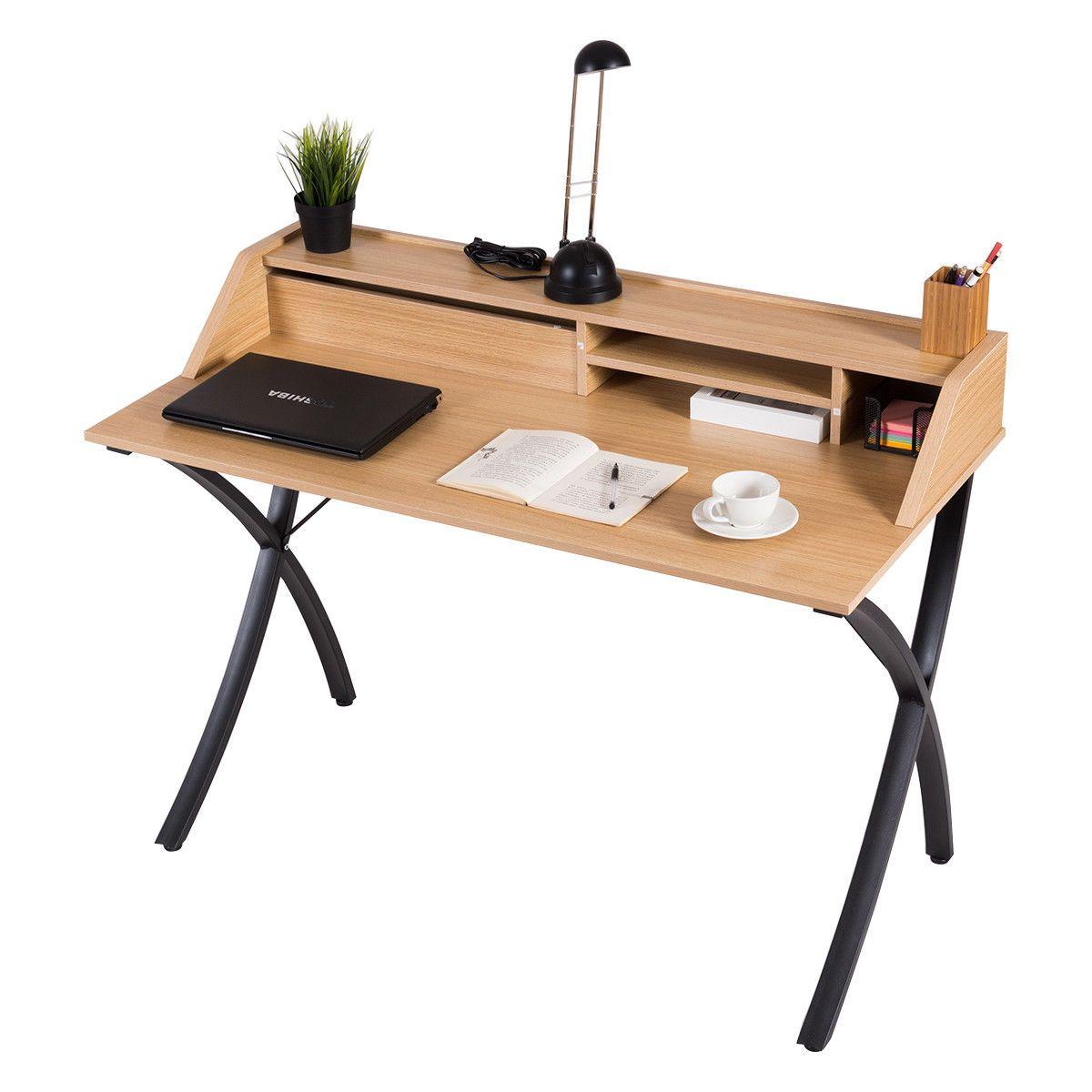Bureau Informatique Table De Travail Table Pour Ordinateur Meuble De Bureau Ebay Desk Office Desk Drafting Desk