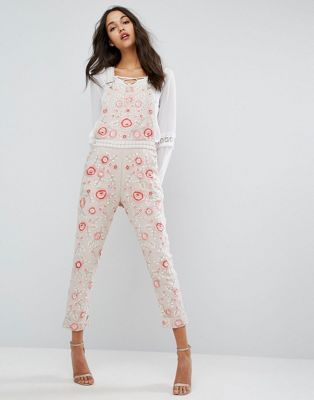 5bc3b81fbd Needle   Thread Cherry Blossom Embroidered Overalls