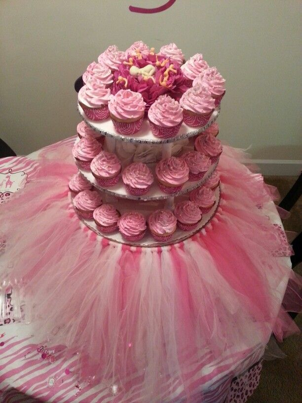It S A Girl Baby Shower Tutu Cupcakes Baby Shower Baby Shower