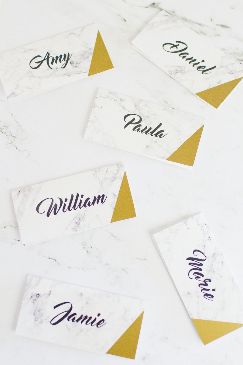 image about Gold Printable Place Cards identify Totally free PRINTABLE Space NAMES wedding day Marriage standing playing cards