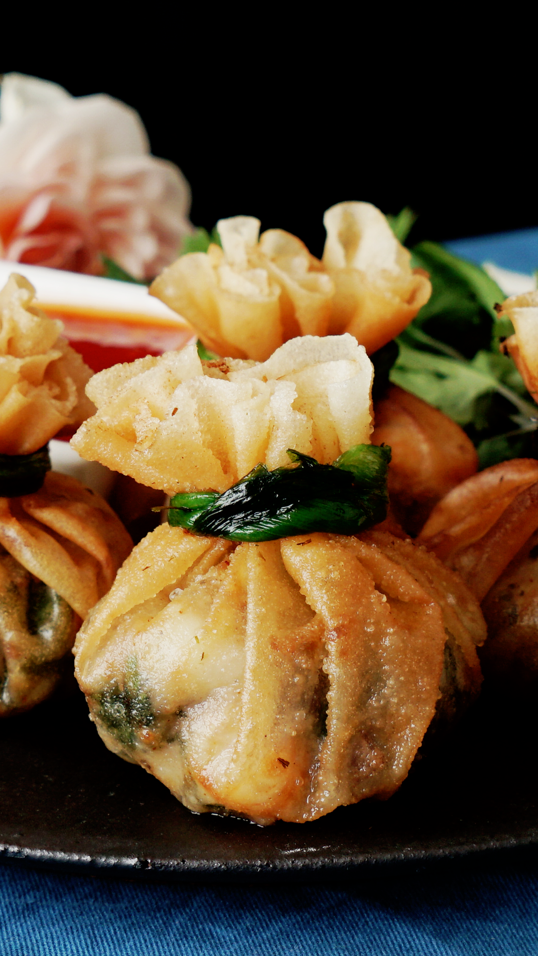 Deep-Fried Shrimp Dumpling Bundles