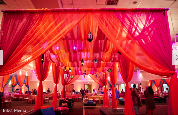 Dreamy Indian Wedding Reception Decor