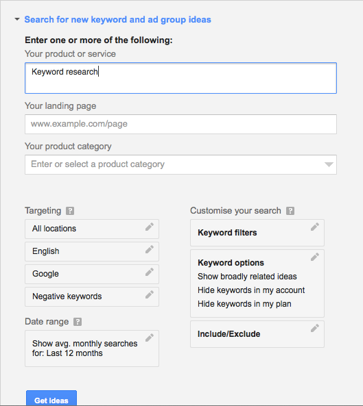 How To Use Google Keyword Planner Tool For Keyword Research Keyword Planner Seo For Beginners Search Engine Marketing