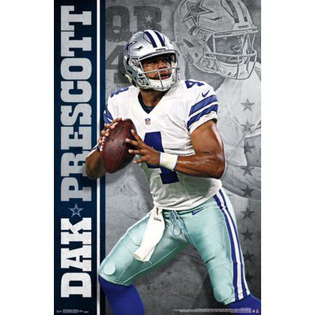1a50cb1a6 Dallas Cowboys - Dak Prescott 16 Poster Print (22 x 34) - Walmart.com