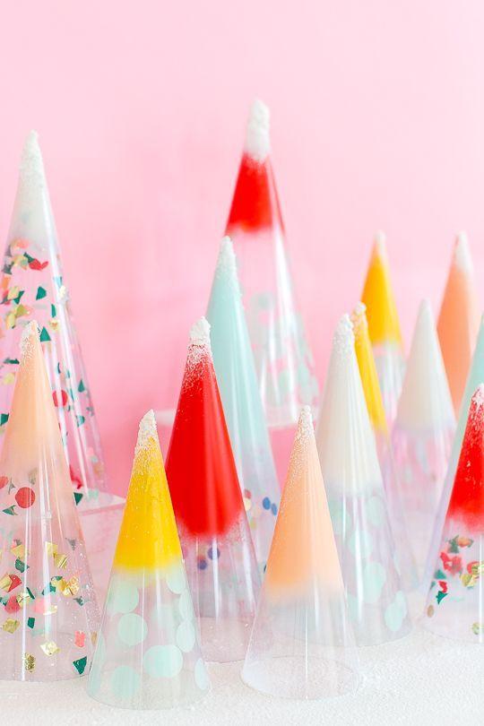 DIY Christmas Trees: Confetti Cones!