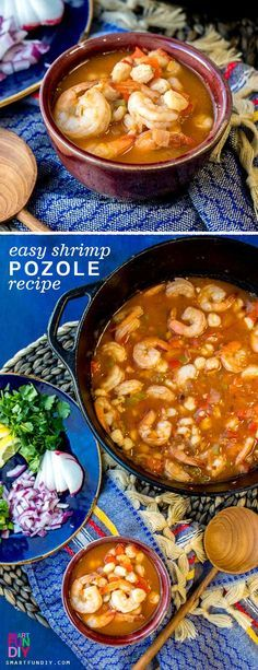 Easy Shrimp Pozole #easymexicanfoodrecipes