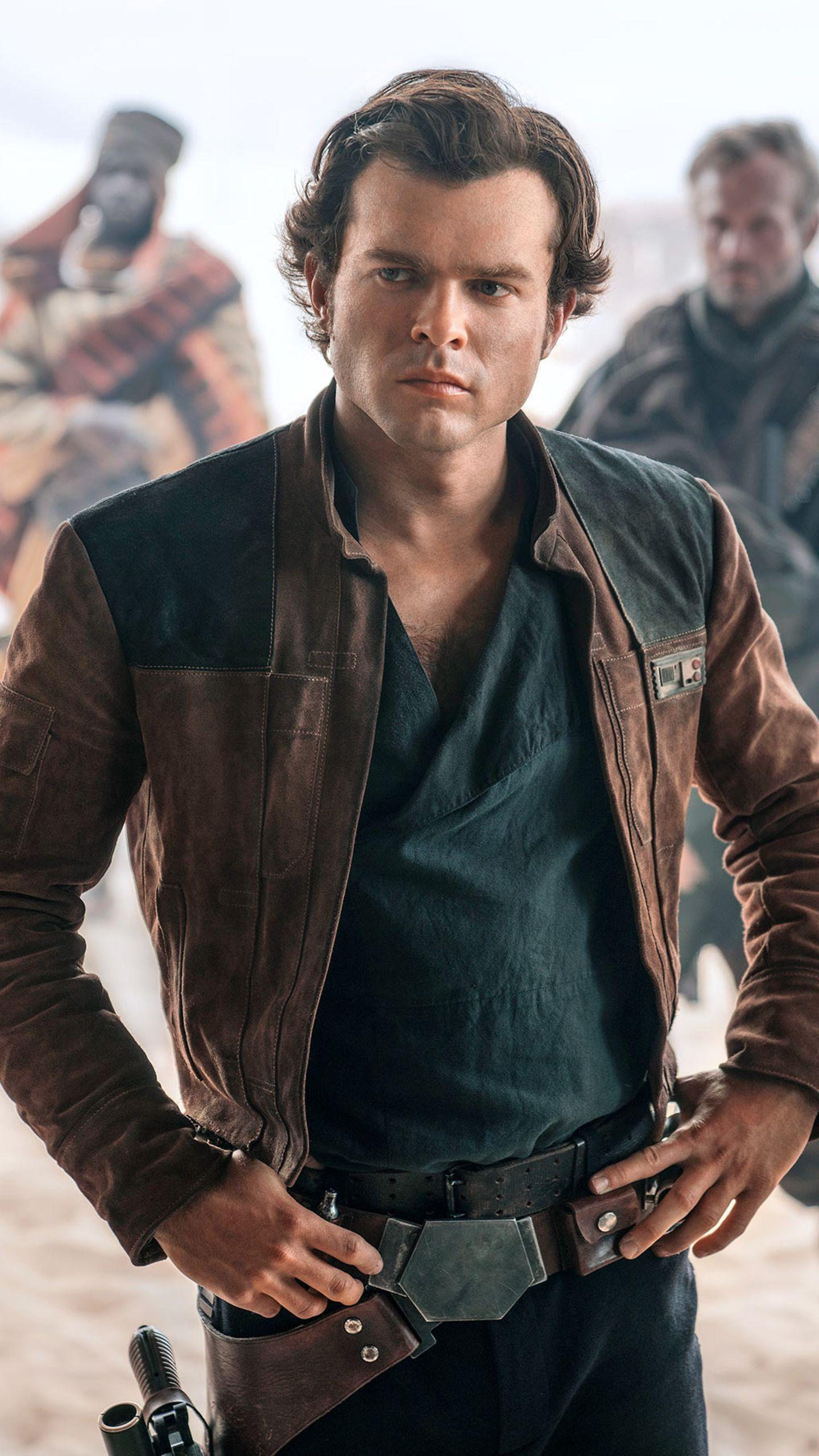 A Star Wars Story Han Solo Alden Ehrenreich Jacket Star Wars Outfits Star Wars Movie Alden Ehrenreich [ 2560 x 1440 Pixel ]