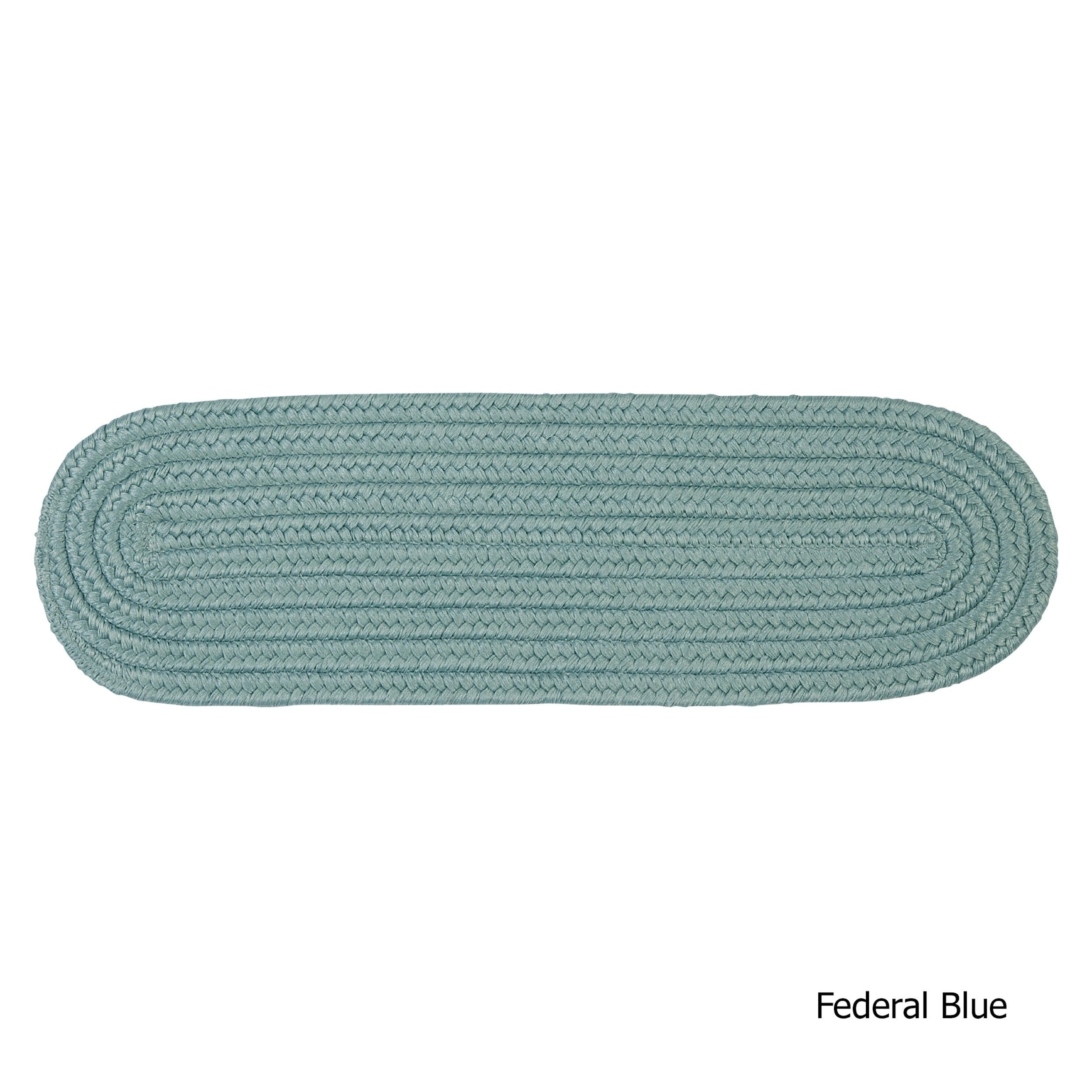 Best Twenty Colors Solid Oval Braided Stair Treads Set Of 13 400 x 300