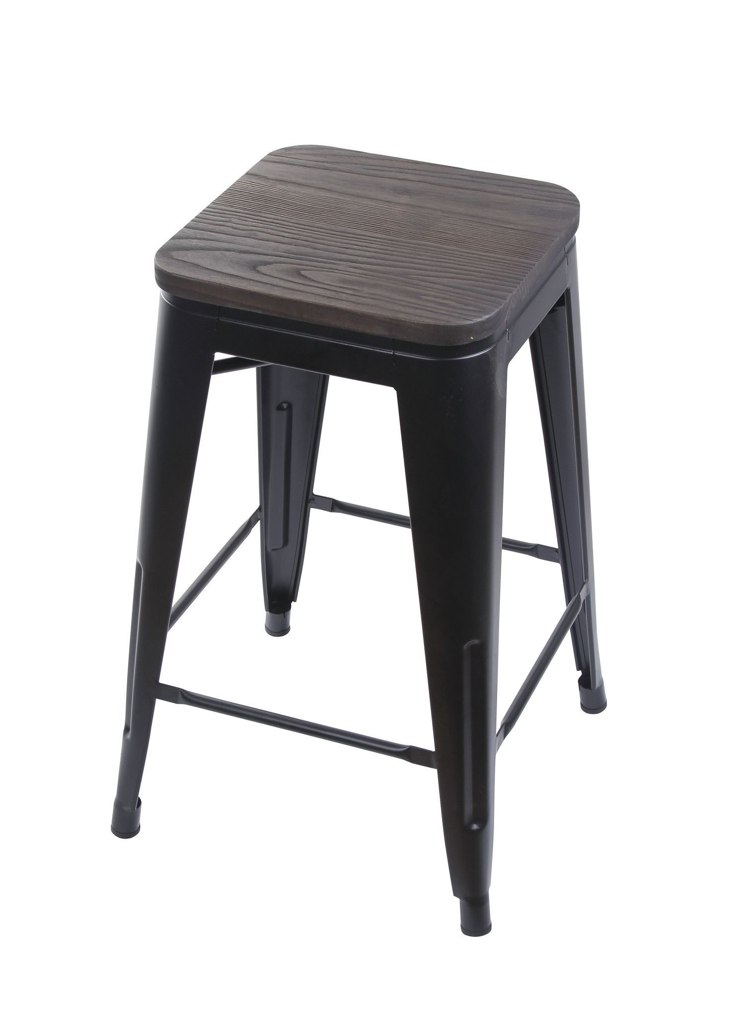 Astounding 24 Metal Stool With Wood Seat Products Metal Stool Pabps2019 Chair Design Images Pabps2019Com