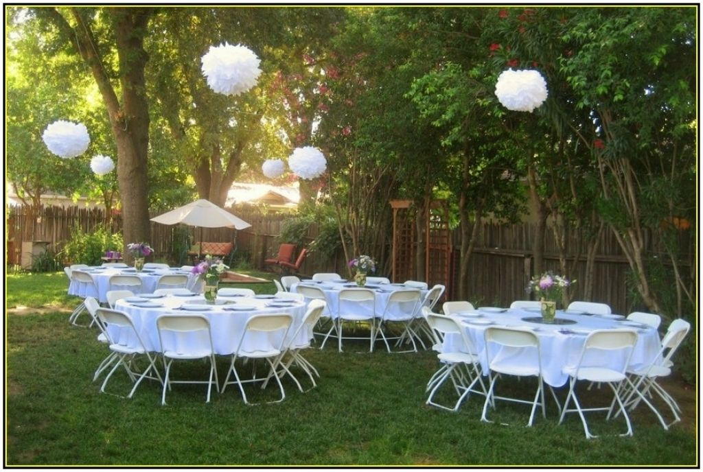 cheap backyard wedding decoration ideas retrosonik cheap