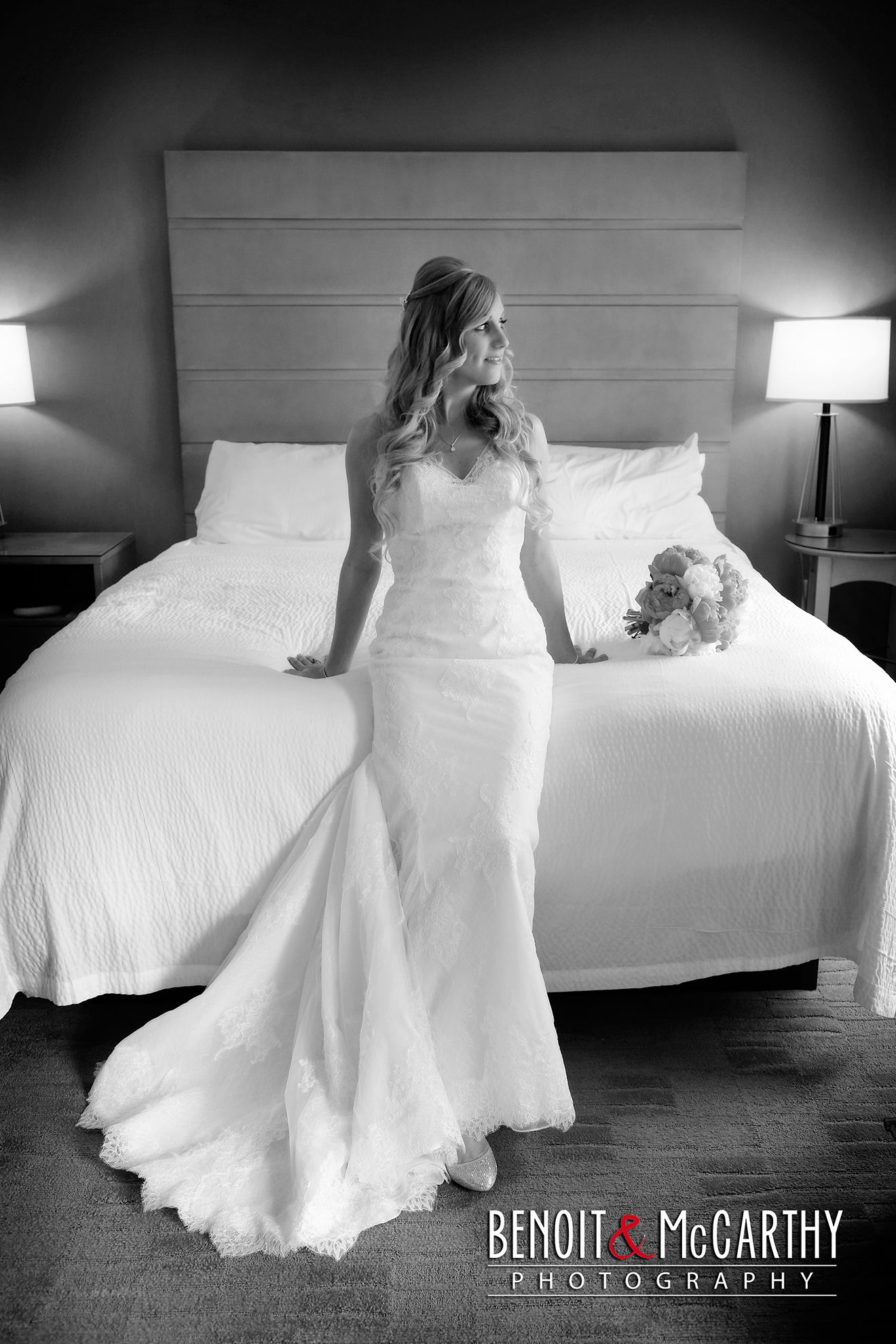 Bride before wedding at the Portsmouth Harbor Events Center ...