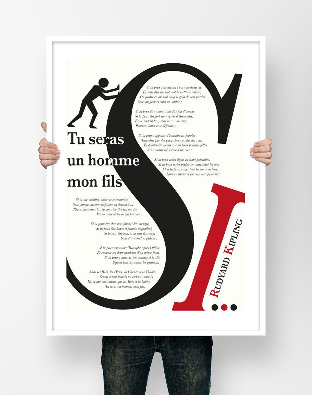 Affiche Illustration Poesie Rudyard Kipling Si Tu Seras Un Etsy Illustration If Rudyard Kipling Tech Company Logos
