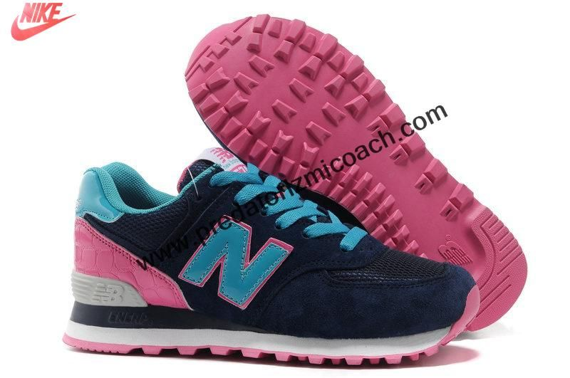 Latest Listing Cheap New Balance NB WL574BFP candy fashionista Blue Pink Black For Women shoes Casual shoes Shop