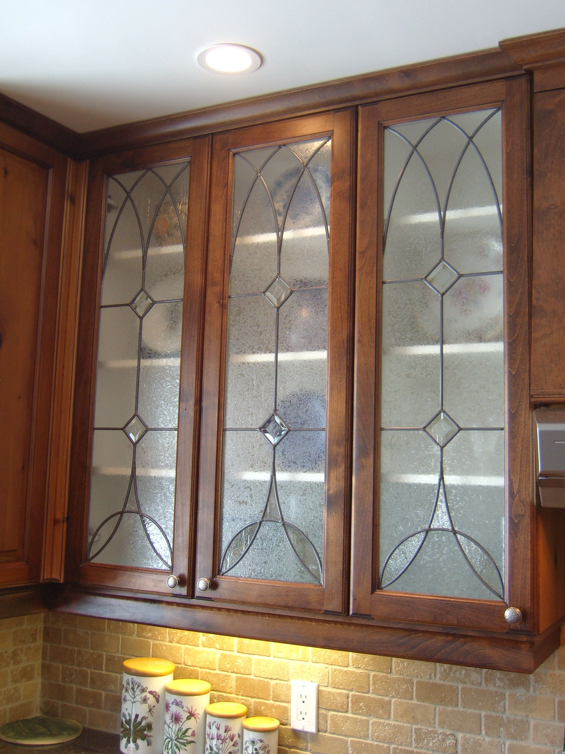 kitchen cabinet stained glass panels by gary wilkinson stained
