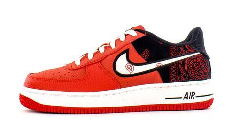 Bandana Fever Red Bandana Print Custom Red/White Nike Air