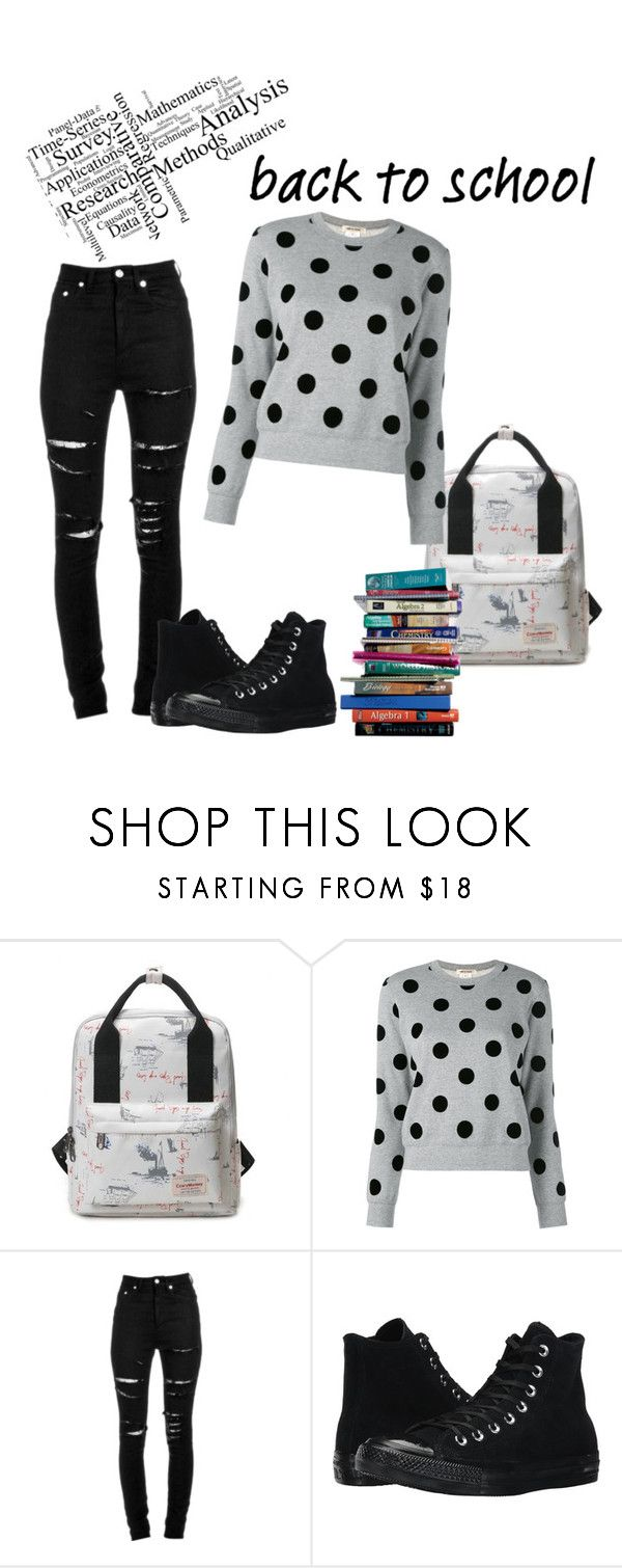"""BTS"" by becr398 ❤ liked on Polyvore featuring 7 For All Mankind, Comme des Garçons, Yves Saint Laurent and Converse"
