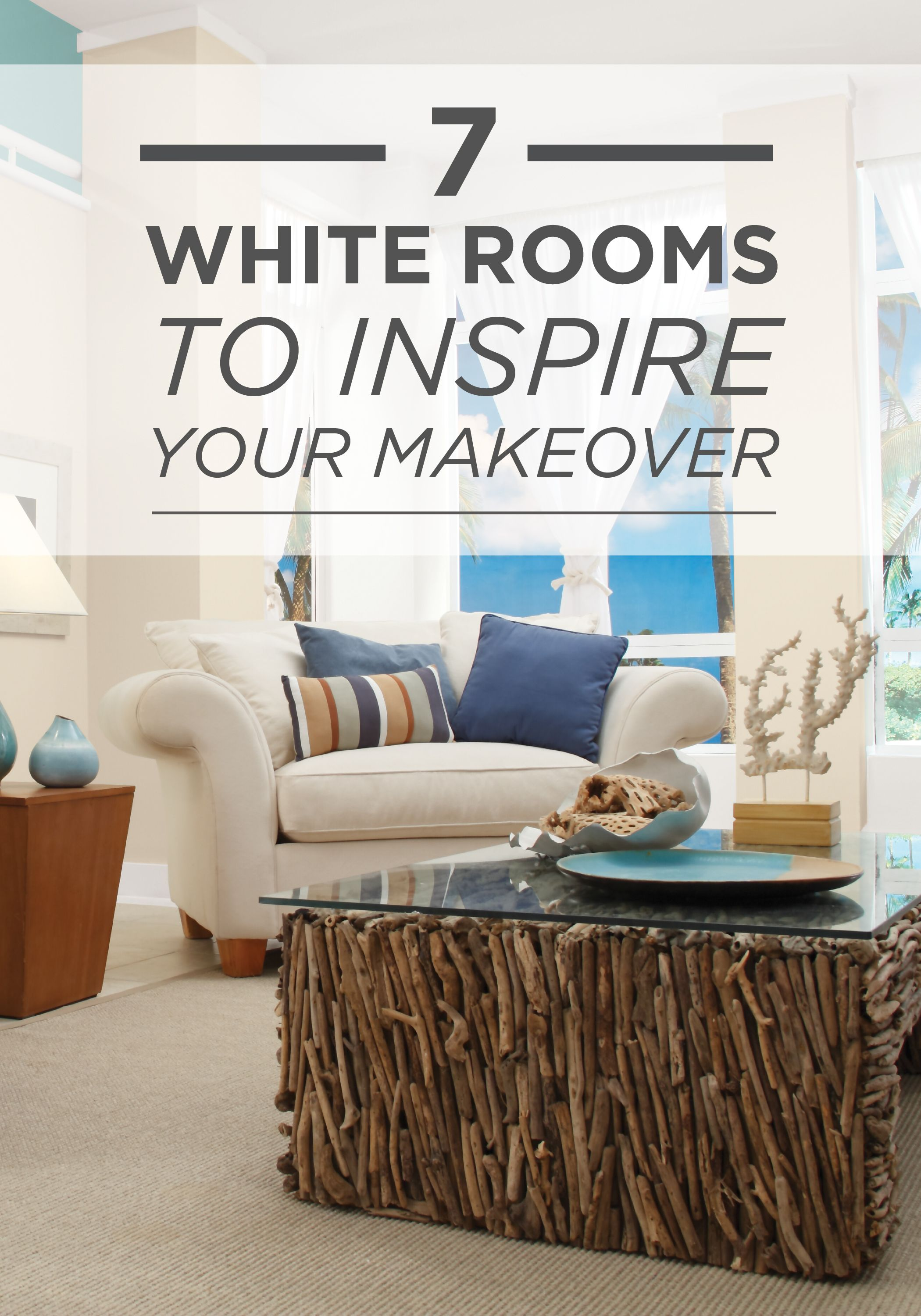 New year, new home decor! Check out these 7 white rooms featuring ...