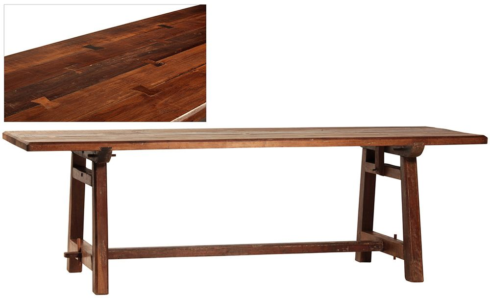 Dovetail Furniture Old Burma Teak Dining Table Dovetail