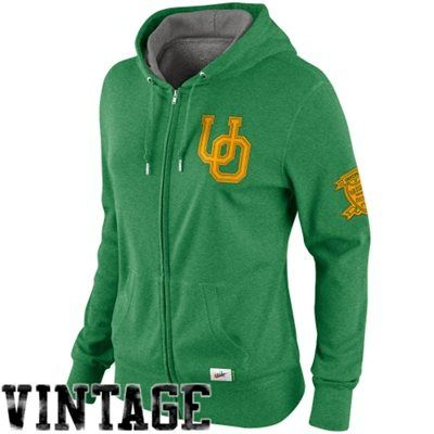 Vault Zip Full Hoodie Ducks Oregon Nike Old School Green Ladies 0wpB8qt7