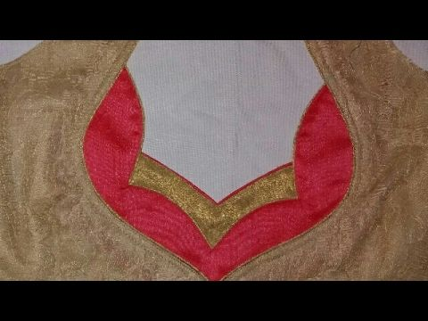 bda0de695e2 kameez front neck design cutting and stitching - YouTube