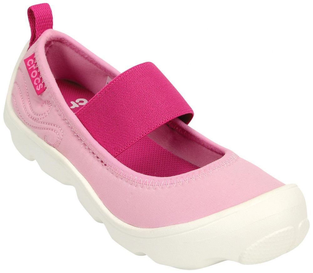 f32db3ce0b2b Crocs Duet Busy Day Mary Jane PS 15353 Slip On Shoes For Girls-Pink ...