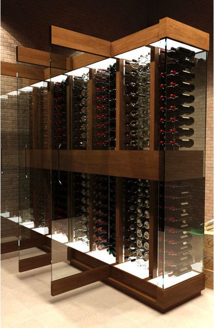 cave a vin design contemporary wine cellar ideas for home pinterest cave vin et cellier. Black Bedroom Furniture Sets. Home Design Ideas