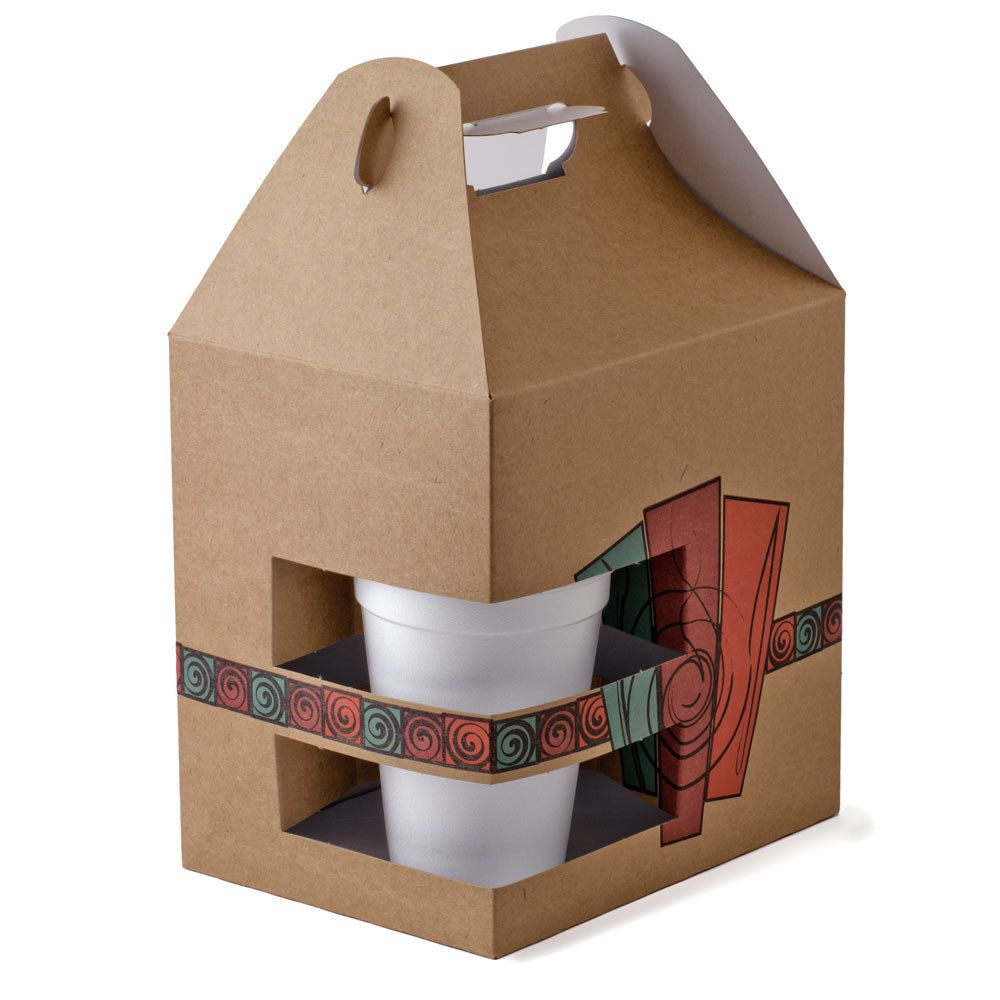 """8"""" x 6"""" x 8"""" Barn Take Out Lunch Box / Chicken Box with"""