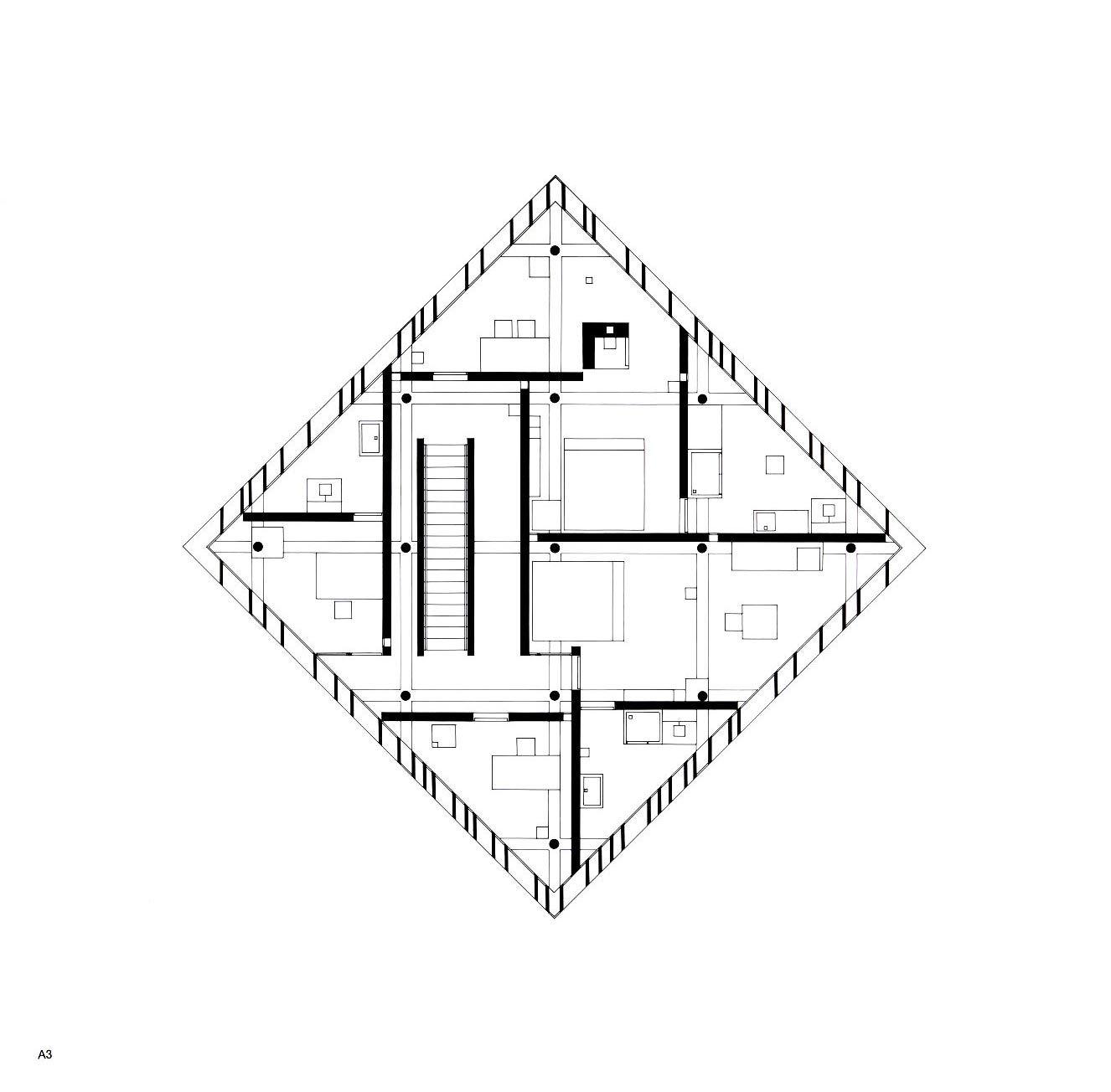 John Hejduk's Diamond House A (1963-1967)