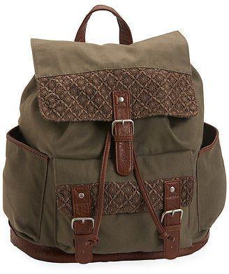 dc250c30b4da Aeropostale Womens Crochet Cinch Backpack