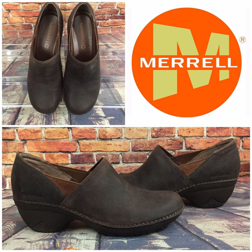 accc1cbc Merrell Women's Emma Clog Brown Oiled Leather Water Resistant US 8M ...