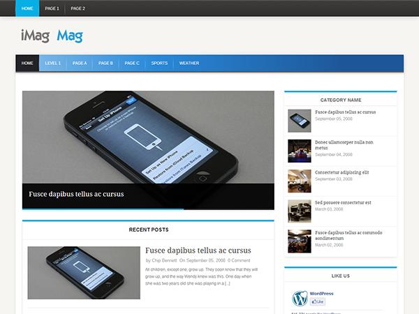 Tema wordpress gratuito para revistas online, plantilla iMag Mag ...