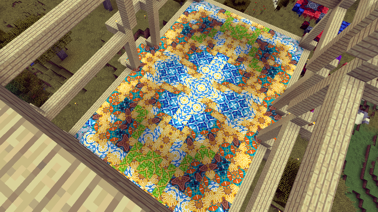 Temple floor's done mixed glazed terracotta pattern   Minecraft ...