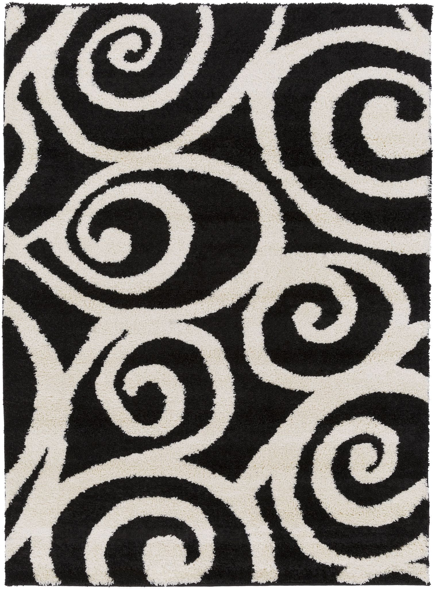 Surya SWT4007 Swift Black Rectangle Area Rug Products