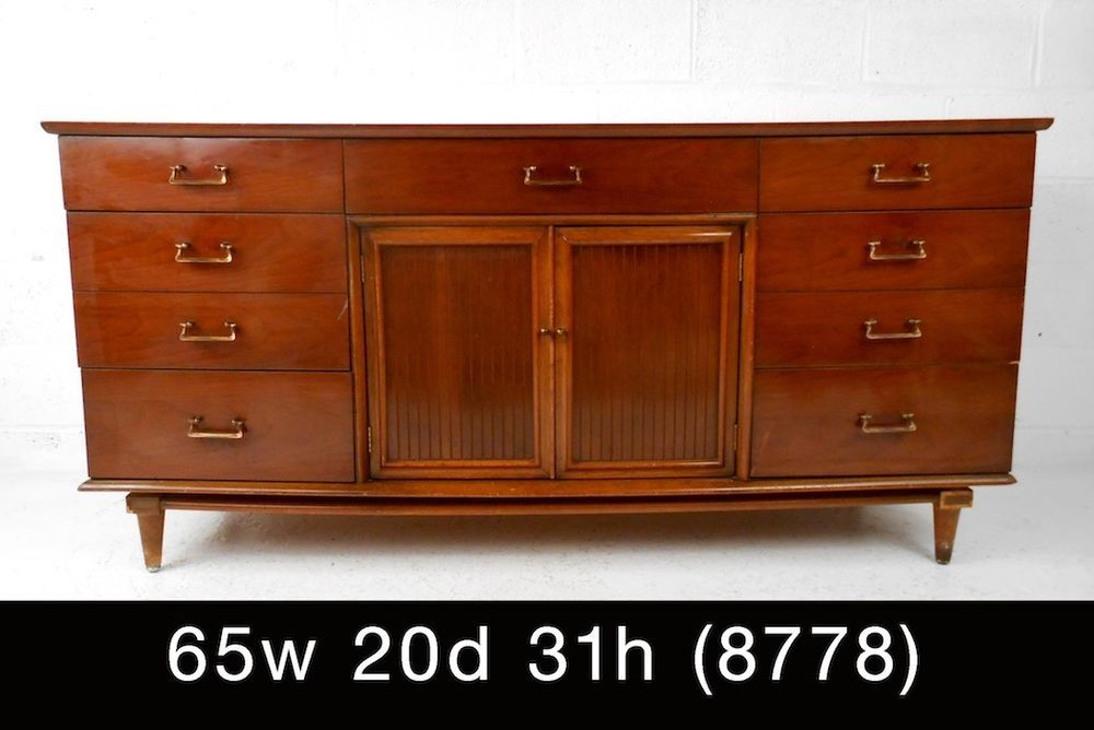 Unique Mid-Century Walnut Dresser (8778)J