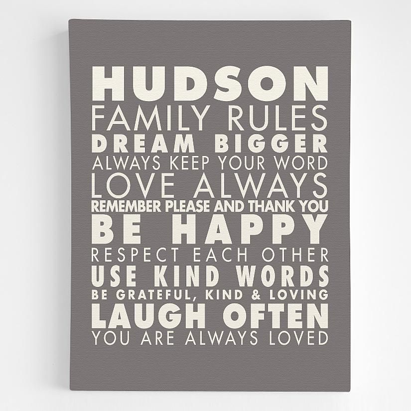 Personalized Family Rules Wall Art From Redenvelope Com Family Rules Wall Art Personalized Family Rules Family Rules