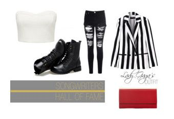 """""""White & Black"""" by theyoungartist ❤ liked on Polyvore featuring Sunsteps, Forever New and Glamorous"""