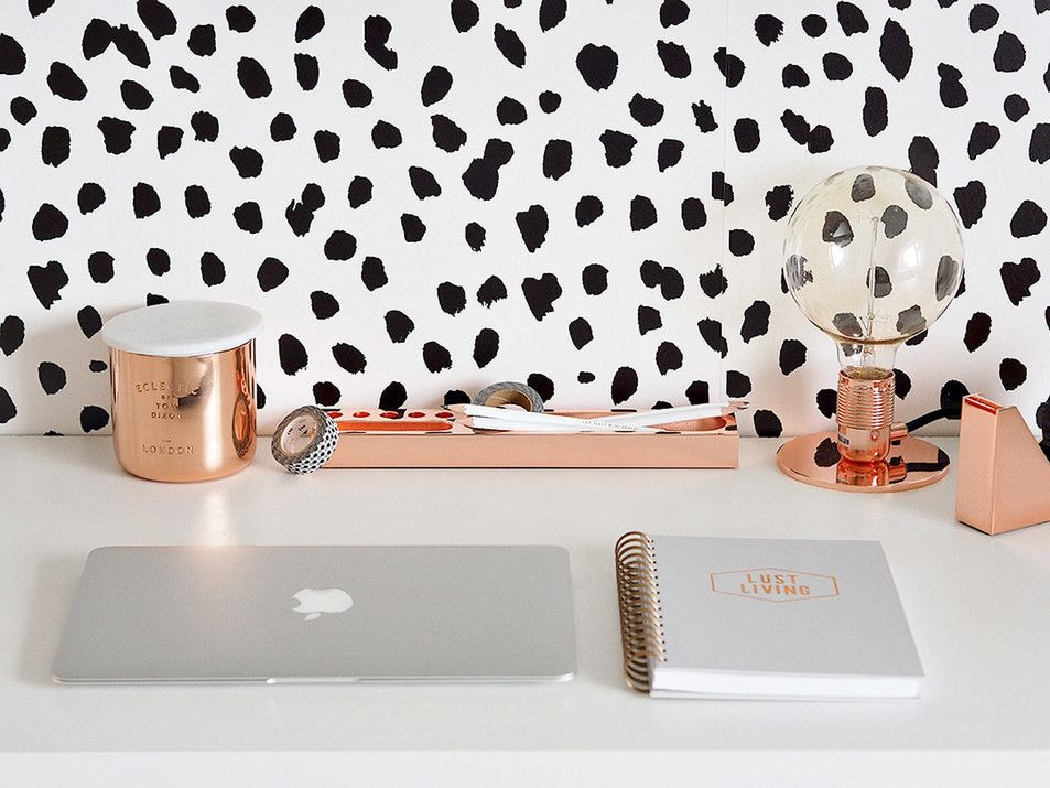 Living Copper Home Office Decor Ft Sweet Pea Wall Design Wallpaper